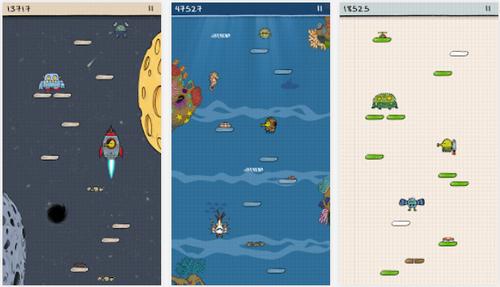 Capture d'écran Doodle Jump Android