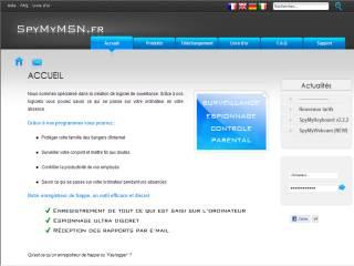 Capture d'écran SpyMyMSN