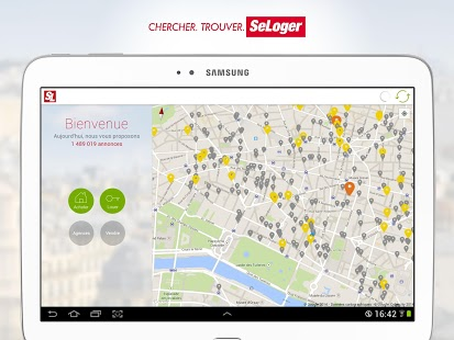 Capture d'écran SeLoger – location, immobilier