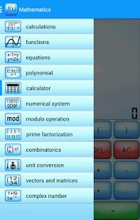 Capture d'écran Mathematics