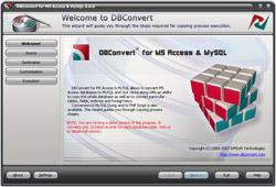 Capture d'écran DBConvert for Access & MySQL