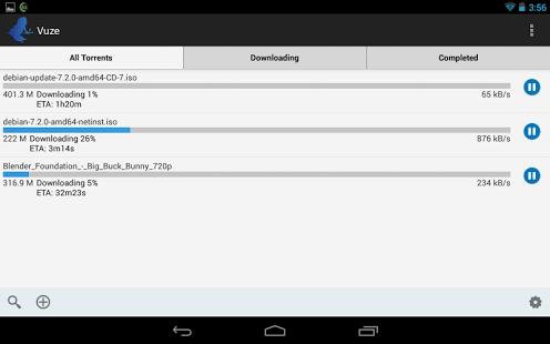 Capture d'écran Vuze Torrent Downloader