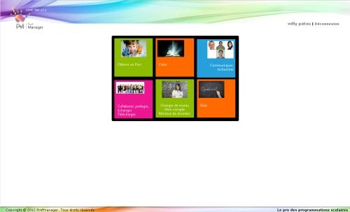 Capture d'écran GPMC PRO (gestion des programmations de ma classe)