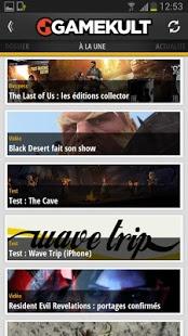Capture d'écran Gamekult Jeux Vidéo