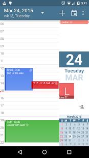 Capture d'écran ACalendar – Android Calendar