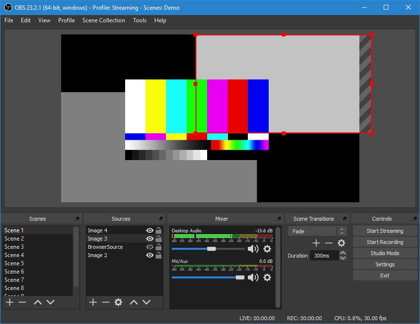 Capture d'écran OBS Studio