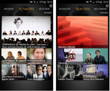 Capture d'écran Festival de Cannes Android