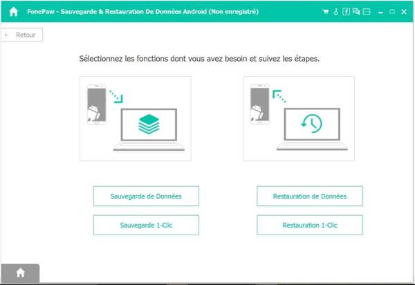 Capture d'écran FonePaw – Sauvegarde & Restauration De Données Android pour Mac