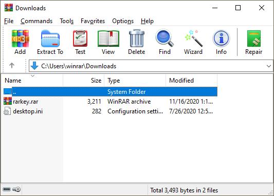 Capture d'écran WinRAR FR 32 et 64 bits