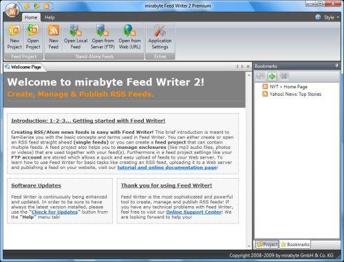 Capture d'écran Feed Writer Deskop RSS Editor