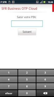 Capture d'écran SFR Business OTP Cloud