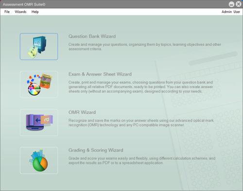 Capture d'écran Assessment OMR Suite Personal Edition