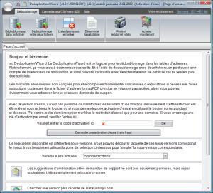 Capture d'écran DeduplicationWizard