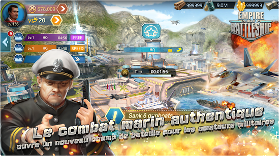Capture d'écran Empire : Rise of Battleship Android
