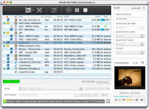 Capture d'écran Xilisoft HD Vidéo Convertisseur pour Mac