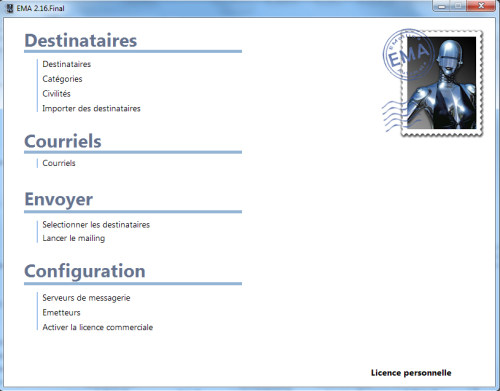 Capture d'écran EMA