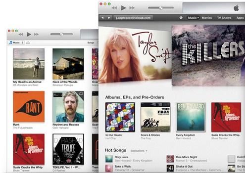 Capture d'écran iTunes