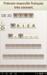 Capture d'écran Jeu de Mots en Français