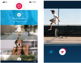Capture d'écran Skype Qik Windows Phone