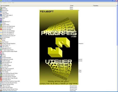 Capture d'écran Programs Viewer