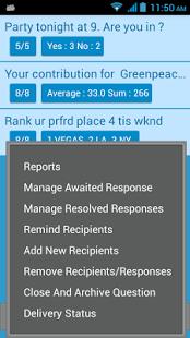 Capture d'écran SMS Poll/Survey Pro