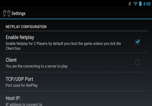 Capture d'écran RetroidNetPlay Android