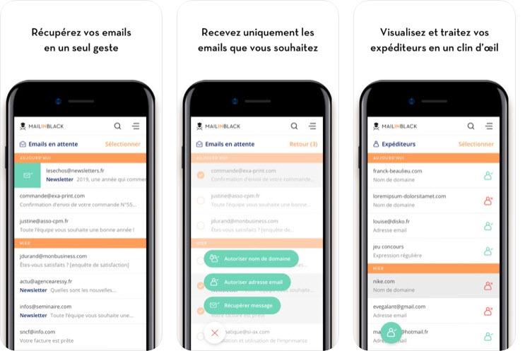 Capture d'écran Mailinblack iOS