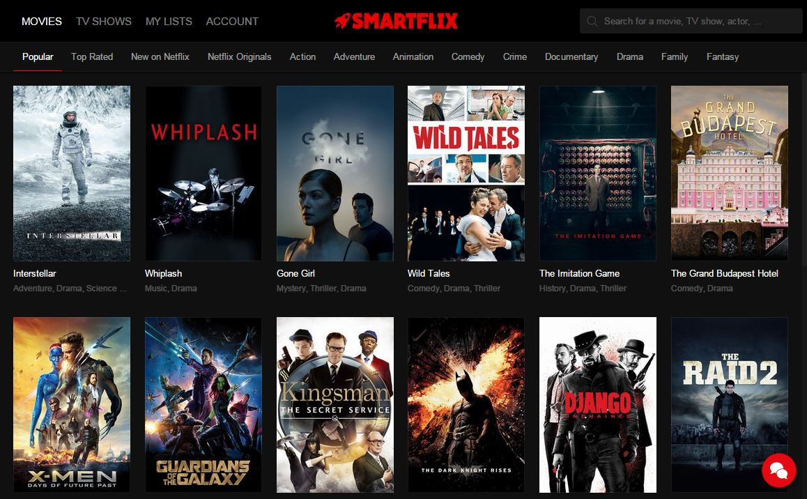 Capture d'écran Smartflix
