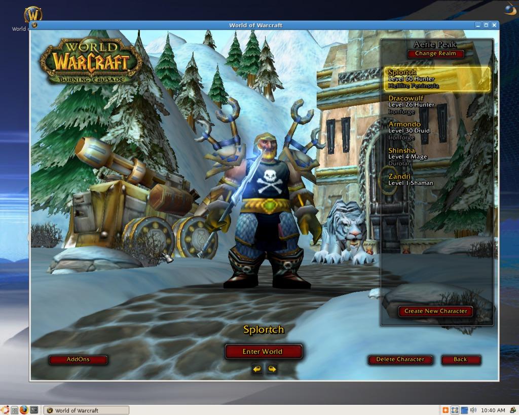 Capture d'écran CrossOver Linux