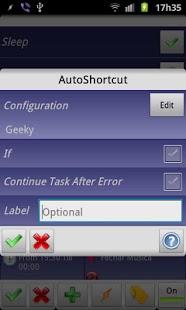 Capture d'écran AutoShortcut