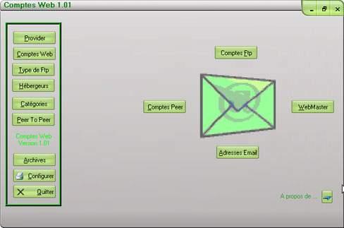Capture d'écran Comptes Web