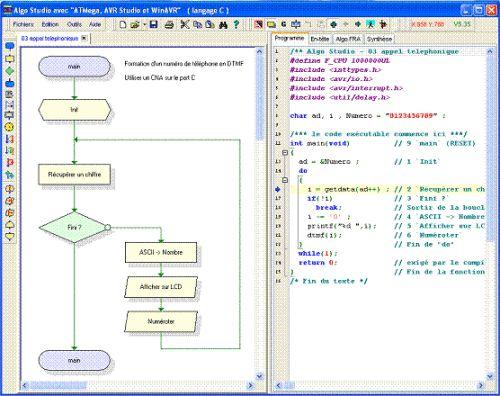 Capture d'écran Algorigramme Studio