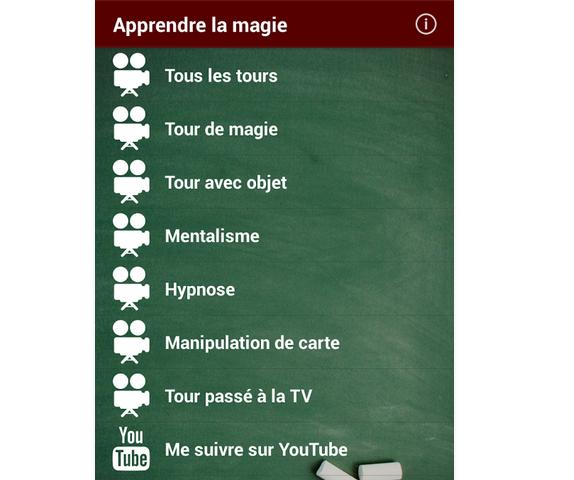 Capture d'écran Apprendre la magie Android