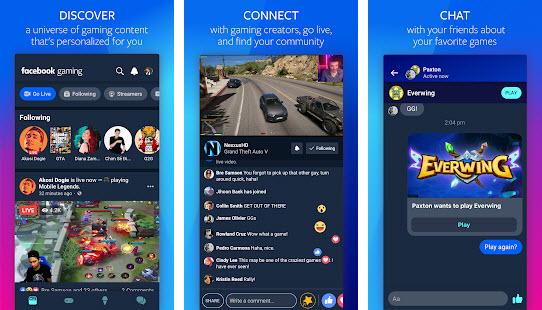 Capture d'écran Facebook Gaming Android