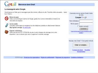 Capture d'écran Messagerie Gmail