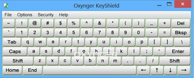Capture d'écran Oxynger KeyShield
