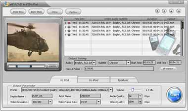 Capture d'écran Alldj DVD To PDA PPC Ripper