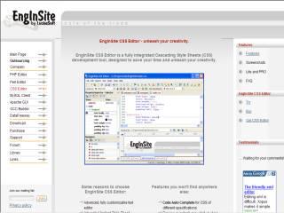 Capture d'écran EngInSite CSS Editor