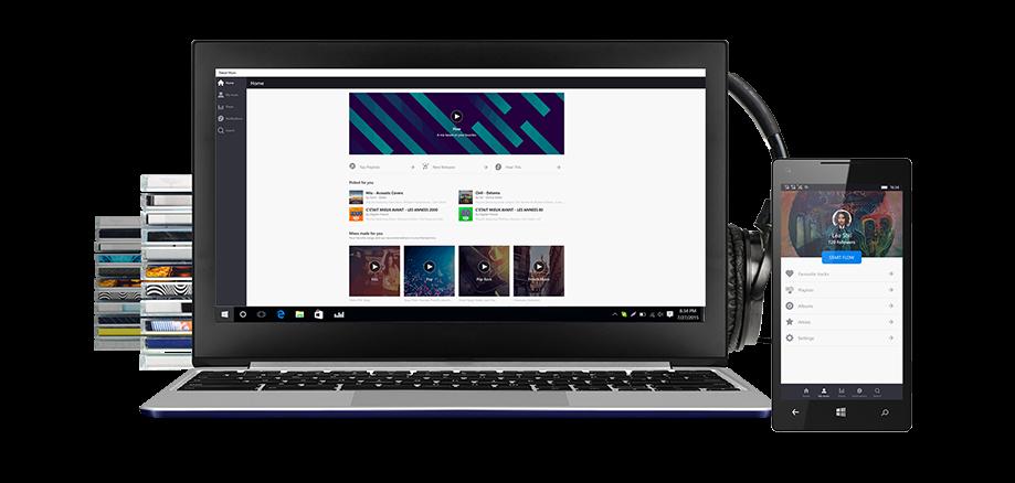 Capture d'écran Deezer pour Windows 10