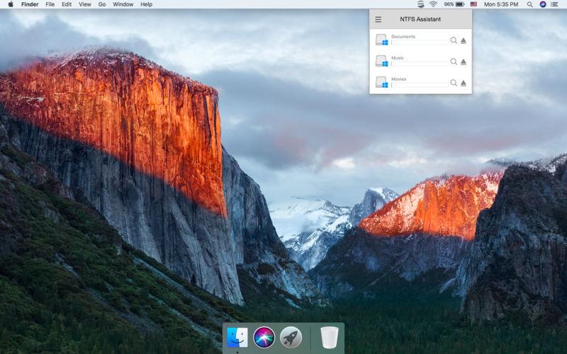 Capture d'écran NTFS Assistant V2.6
