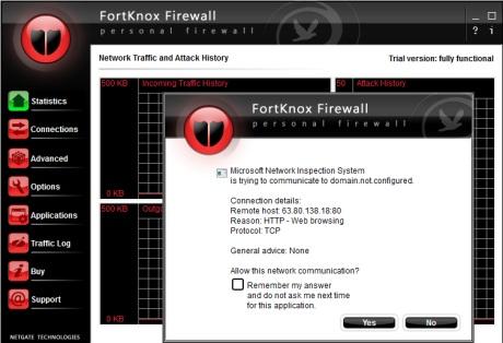 Capture d'écran Netgate Internet Security