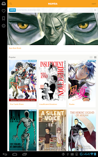 Capture d'écran Crunchyroll Manga