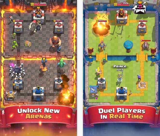 Capture d'écran Clash Royale iOS