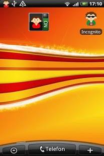 Capture d'écran Incognito