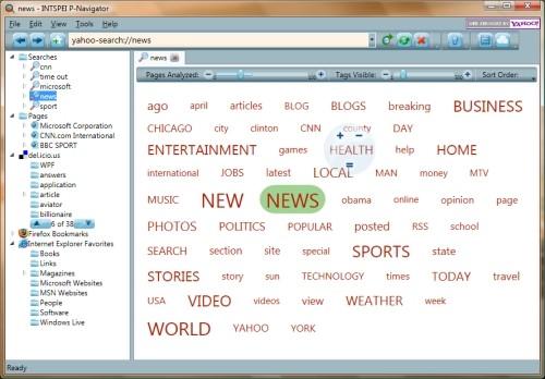 Capture d'écran INTSPEI P-Navigator