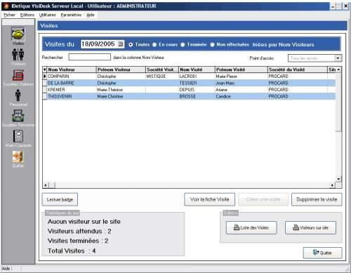 Capture d'écran VisiDesk