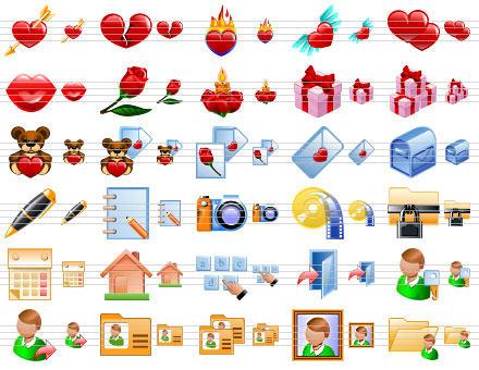 Capture d'écran Dating Web Icons
