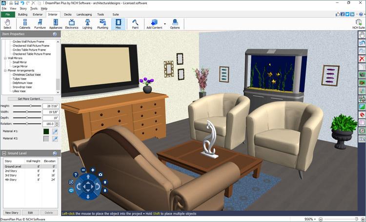 Capture d'écran DreamPlan – Décoration intérieure et paysagisme