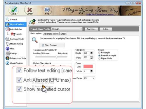 Capture d'écran Magnifying Glass Pro