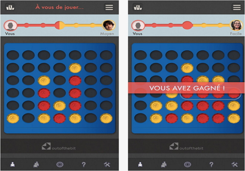 Capture d'écran Aligne 4 iOS
